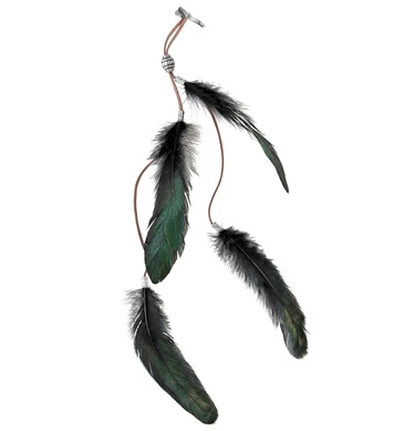 BLACK FEATHERS HAIR CLIP