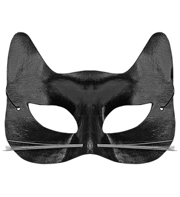 BLACK CAT EYEMASK WITH WHISKERS