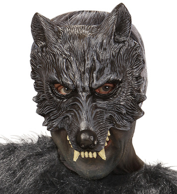 WOLF CHINLESS FOAM LATEX MASK DELUXE