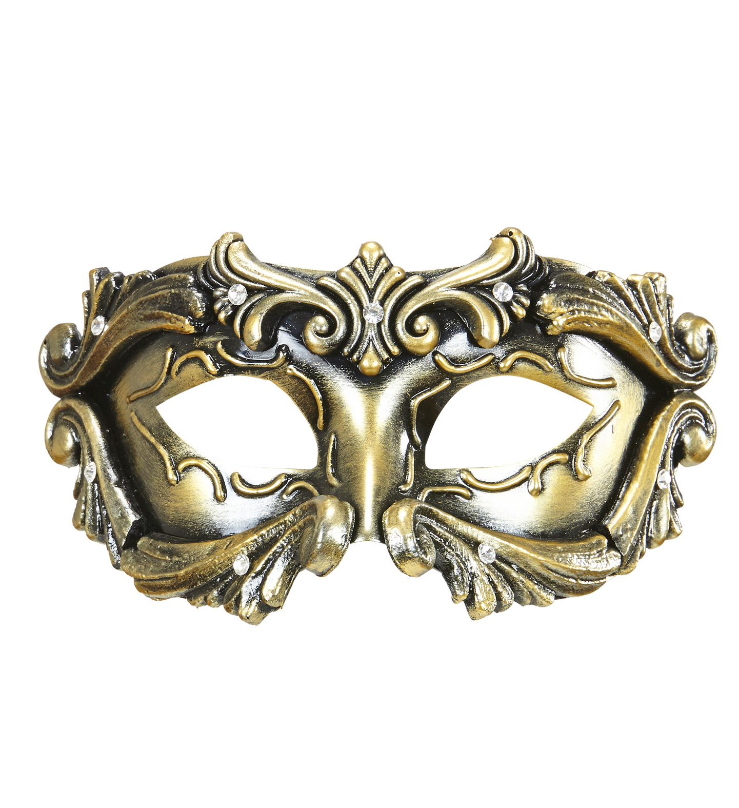 Deluxe Bronze Baroque Colombina Mask Eyemask Fancy Dress