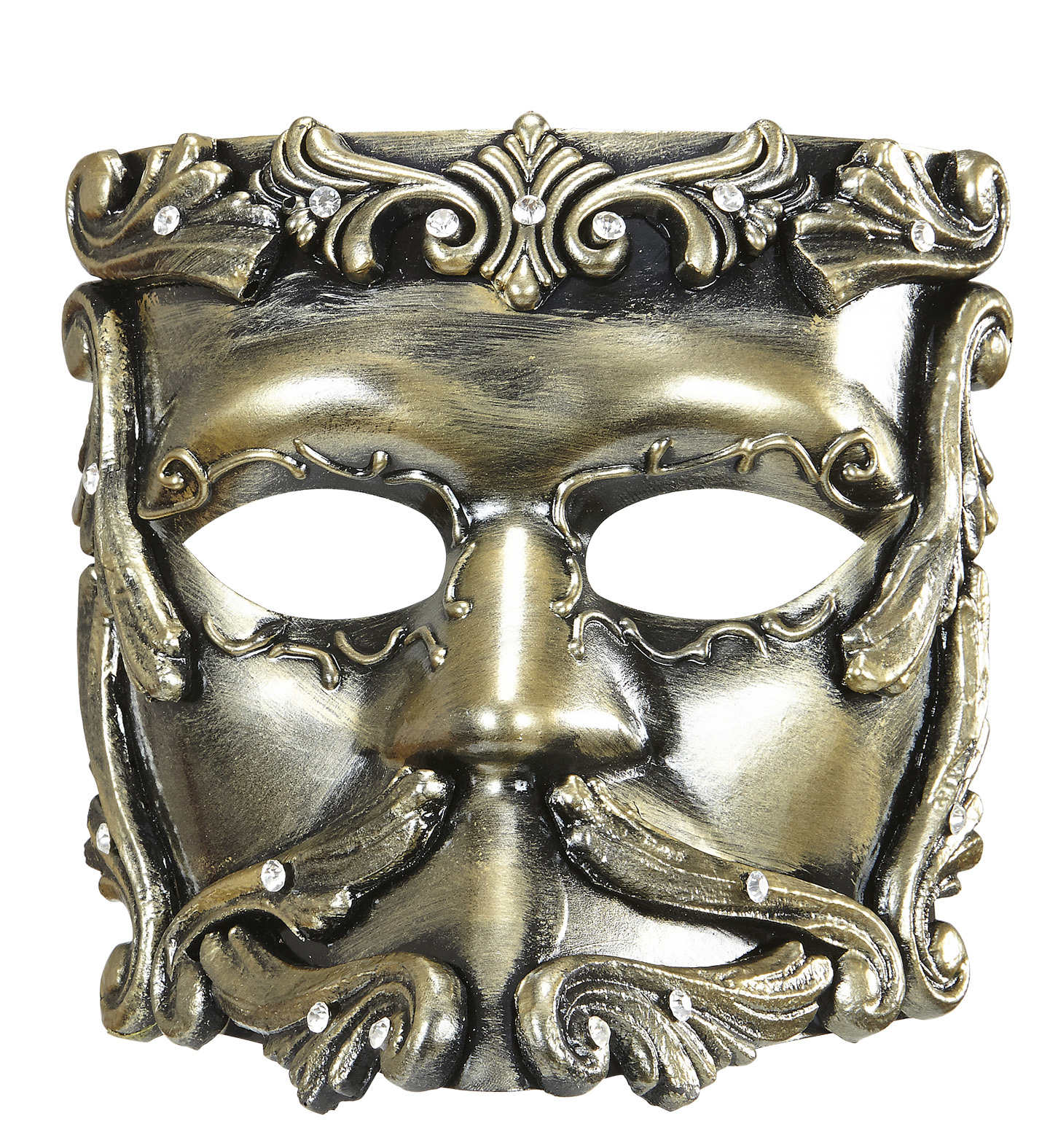 Deluxe Bronze Baroque Casanova Mask Eyemask Fancy Dress