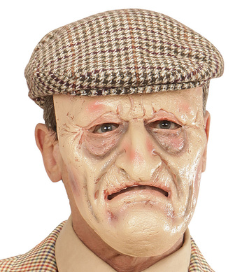 GRANDPA HALF FACE FOAM LATEX MASK