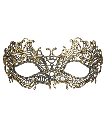 ANTIQUE GOLD LACE EYEMASK