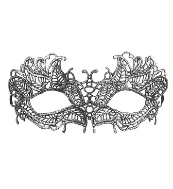 ANTIQUE SILVER LACE EYEMASK