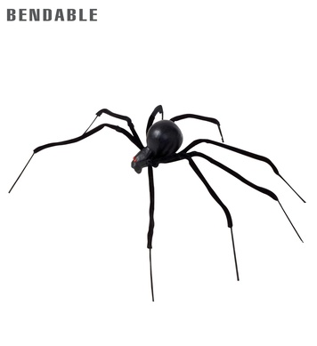 BENDABLE BLACK SPIDERS 90cm