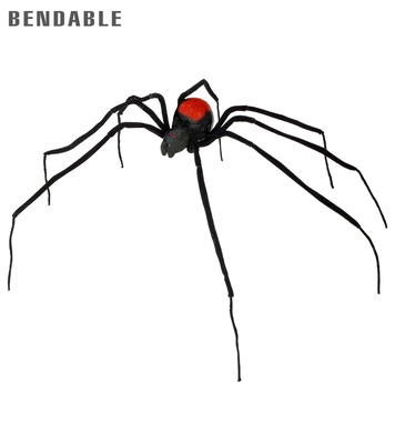 BENDABLE BLACK SPIDERS 110 cm