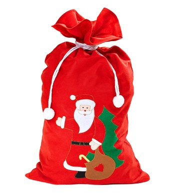 DECORATED SANTA CLAUS SACK 60cm x100cm