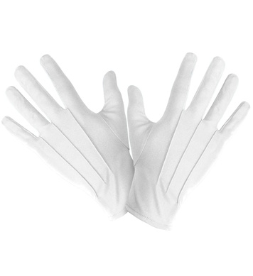 GLOVES SHORT WHITE