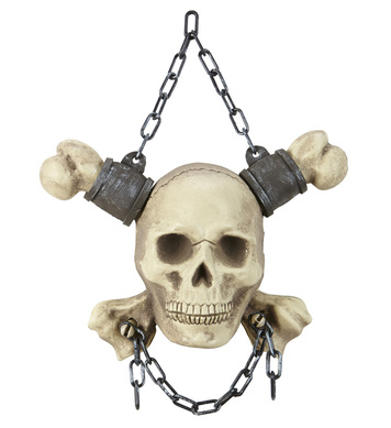 CHAINED SKULL & CROSSBONES 28 cm
