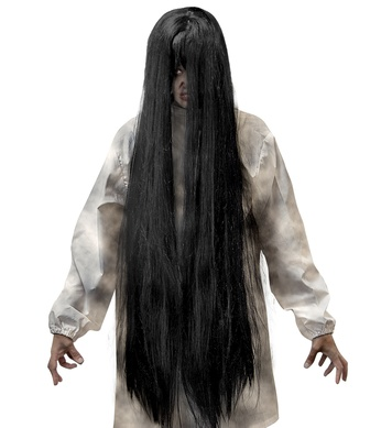 BLACK EVIL SPIRIT WIG - 100cm - in polybag