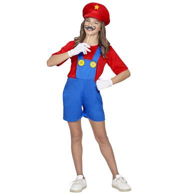 SUPER PLUMBER GIRL (jumpsuit, hat) Childrens