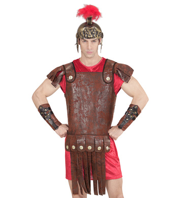 LEATHER LOOK ROMAN/GREEK BODY ARMOUR (1Size)