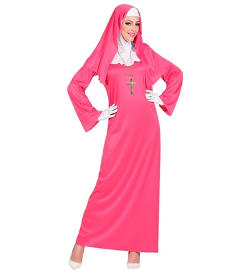 PINK NUN (dress, headpiece, gloves)