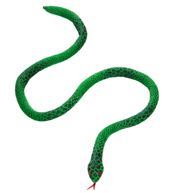 BENDABLE GREEN SNAKE 100 cm