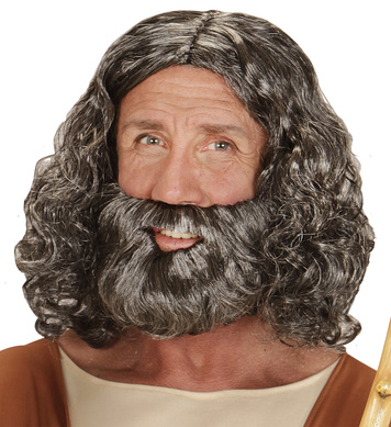 BIBLICAL WIG & BEARD in box