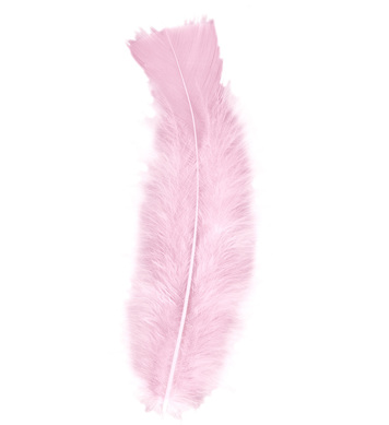 BAG OF FEATHERS LIGHT PINK