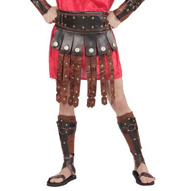 LEATHER LOOK ROMAN/GREEK APRON & BELT (1Size)