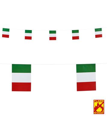 ITALY FLAG GARLAND 6 m (flag size 15 x 20,5 cm)