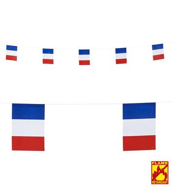 FRANCE FLAG GARLAND 6m