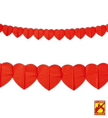 HEART GARLAND 3 m - flame retardant