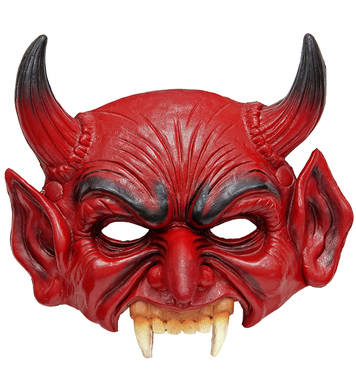 CHINLESS DEVIL FOAM LATEX MASK