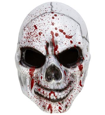 BLOODY SKULL HALF FACE FOAM LATEX MASK
