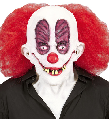 GOOFY CLOWN MASK WITH HAIR & NECK