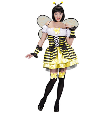 BEE COSTUME (dress cuffs wings antennas)