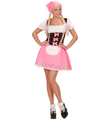 BAVARIAN GIRL - PINK - (dress headscarf)