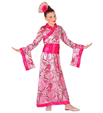 ASIAN PRINCESS (kimono with belt, headpiece) Childrens