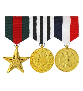 SET OF 3 COMBAT HERO MEDALS