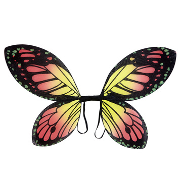 BLACK-ORANGE-YELLOW BUTTERFLY WINGS child size