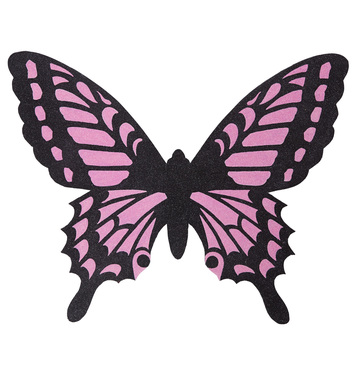 BLACK-PINK BUTTERFLY WINGS adult size
