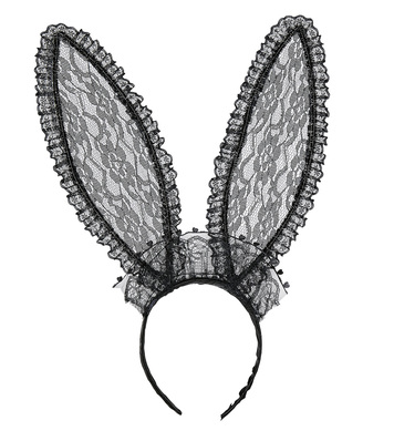 BLACK LACE BUNNY EARS TALL