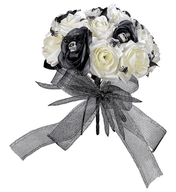 HALLOWEEN BRIDAL BOUQUET w/ SKULLS & SPIDERS