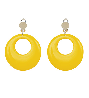 CIRCLE EARRINGS - NEON YELLOW