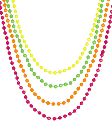 NEON BEADED NECKLACES - SET OF 4