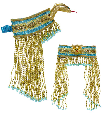 BEADED EGYPTIAN HEADPIECE - LONG