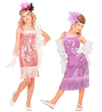 GLAMOUR MARILYN - pink/purple (4-5yrs/5-7yrs) (sequin dress)