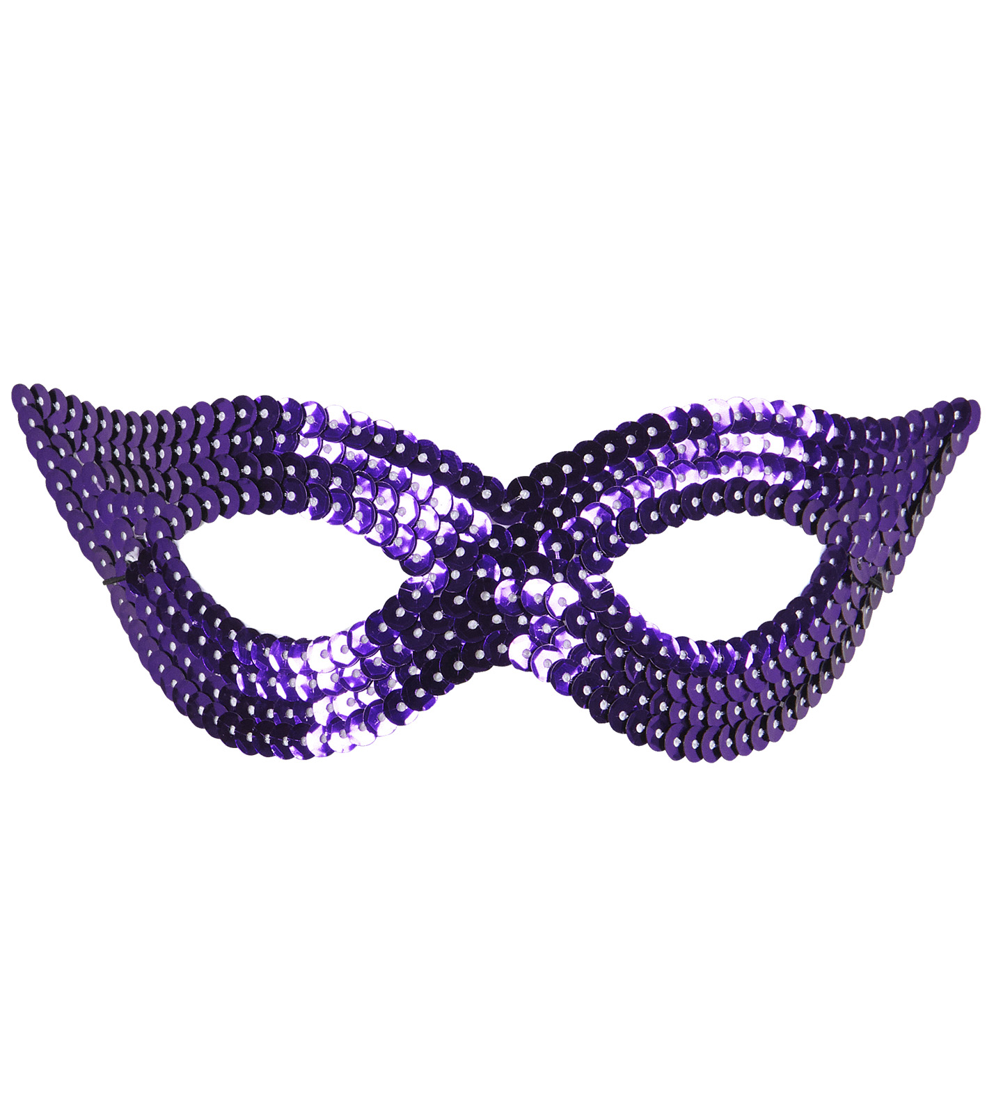 Purple Sequin Eyemask Fancy Dress