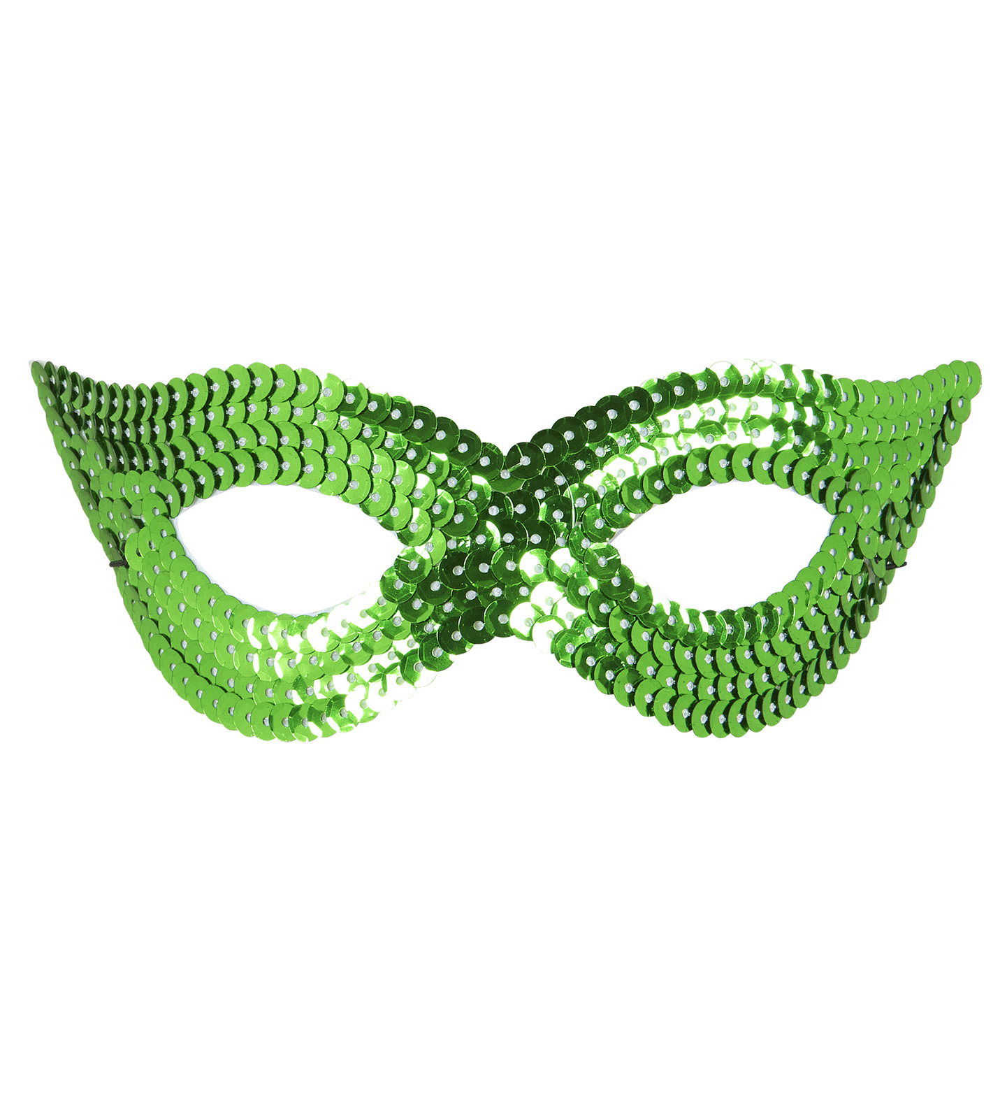 Green Sequin Eyemask Fancy Dress