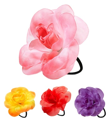 HAIR FLOWER W/ ELASTIC **See 94171/2/3/4