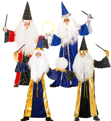 FANTASY WIZARD - 4 styles (robe hat) Childrens