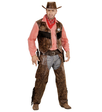 COW BOY (shirt with vest chaps hat)