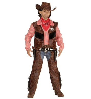 COW BOY (shirt with vest chaps hat) Childrens