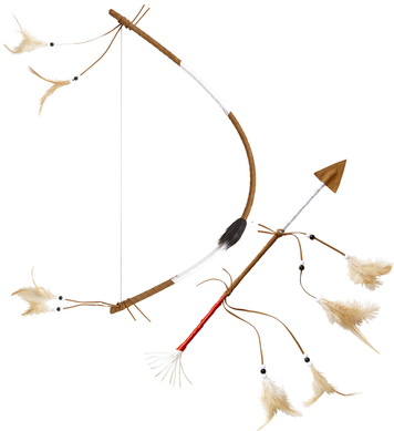 AUTHENTIC INDIAN BOW & ARROW 60 cm