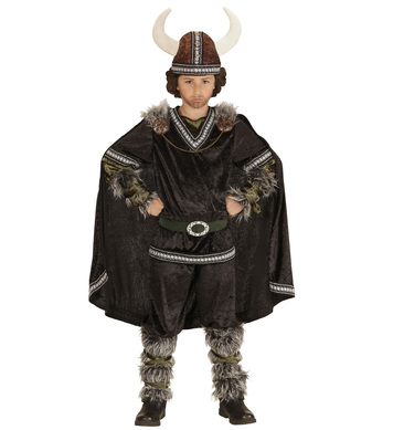 VIKING CHIEF (coat pants belt cape helmet) Childrens
