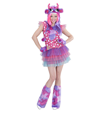PINK MONSTER GIRL M (dress h/piece gloves leg warmers)