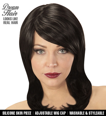 BLACK MEGAN DREAM HAIR WIG in colour box