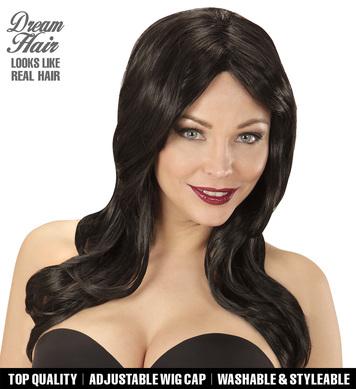 BLACK LINDSAY DREAM HAIR WIG in colour box